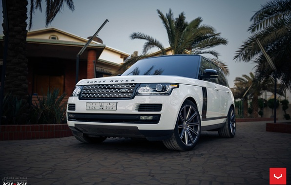 Picture machine, auto, before, wheels, Land Rover, drives, auto, Vossen Wheels