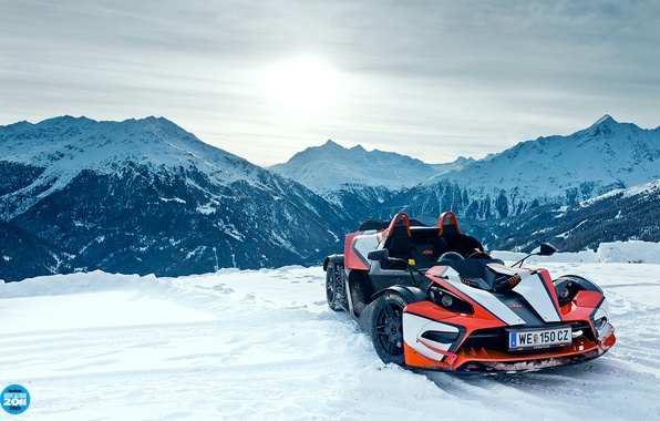 Picture the sky, snow, mountains, supercar, KTM, top gear, top gear, top gear, X-BOW, 20th, X-Bow, …