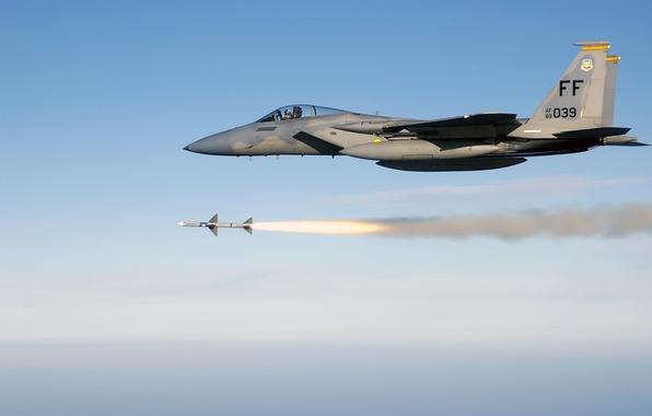 Picture rocket, start, F-15