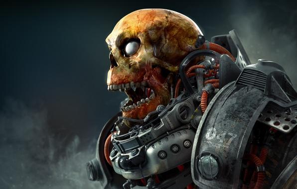 Picture death, skull, costume, cyborg, dead