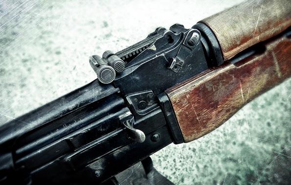 Picture macro, weapons, machine gun, sight, shop, Kalashnikov, shutter, manual, the PKK