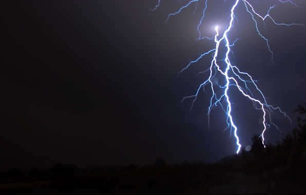 Picture the storm, the sky, element, lightning