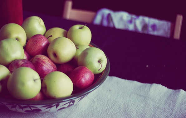 Picture apples, green, red, a lot