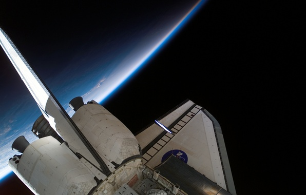 Picture space, the atmosphere, Earth, Shuttle