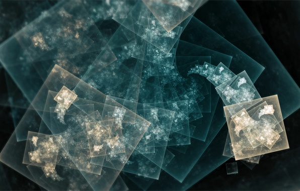 Picture fractals, squares, layers, fractal pattern
