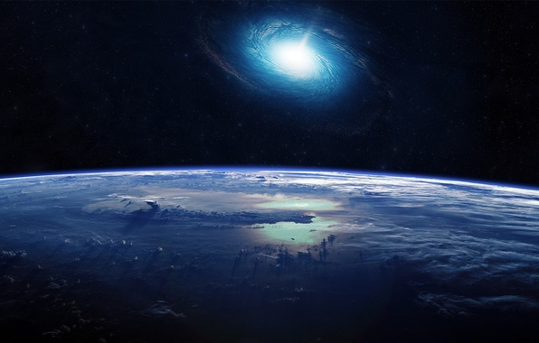 Picture space, earth, the universe, galaxy