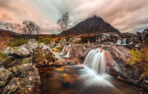 Photo Wallpaper Mountain Stones Scottish Highlands Scotland Badlands Etive Mor Stream