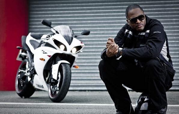 Picture jacket, motorcycle, helmet, male, singer, sitting, taio cruz