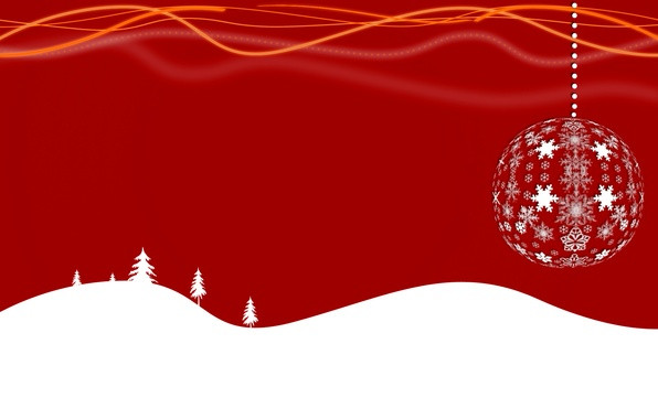 Picture vector, ball, New Year, Christmas, snowflake, postcard