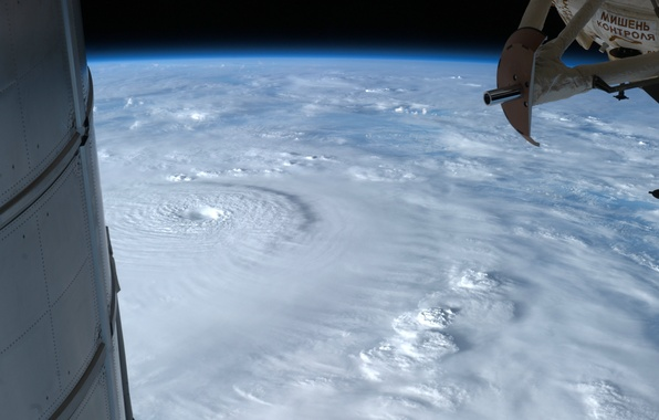 Picture clouds, element, Earth, hurricane, ISS, Bopha