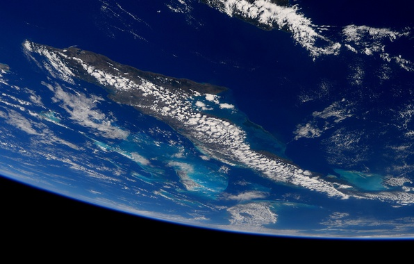 Picture space, clouds, planet, Earth, oceans