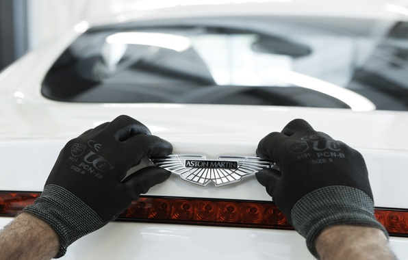 Picture Aston Martin, Gloves, Logo, One-77, Exclusive