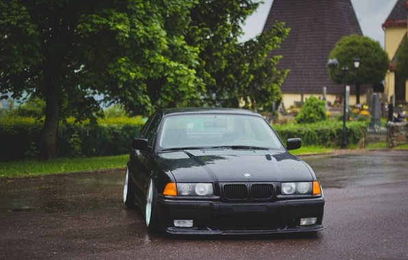 Picture tuning, BMW, BMW, black, before, black, tuning, E36