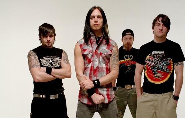 Picture group, rock, metal, Michael Padget, Jason James, Michael Thomas, Matthew Tuck, Bullet For My Valentine