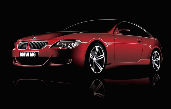 Picture coupe, vector, BMW