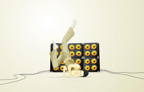 Picture music, dance, minimalism, Vector, speakers