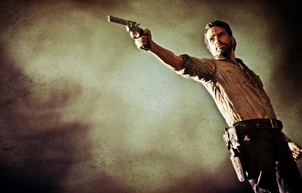 Wallpaper Toy The Walking Dead Rick Grimes Andrew Lincoln Colt Python 357 Magnum Images For Desktop Section