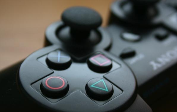 Picture art, button, joystick, sony, Hi-Tech
