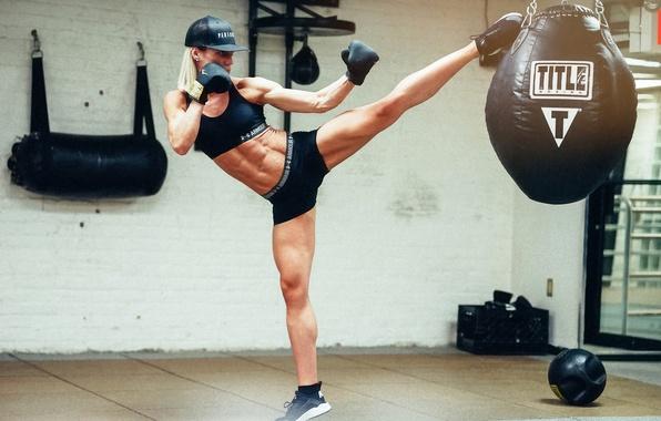 Photo wallpaper girl, blow, karate, Yanyah Milutinovic