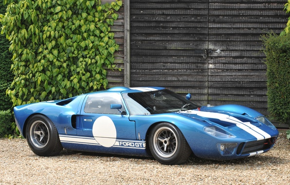 Picture leaves, Ford, side view, building, ford gt, Dzhi ti