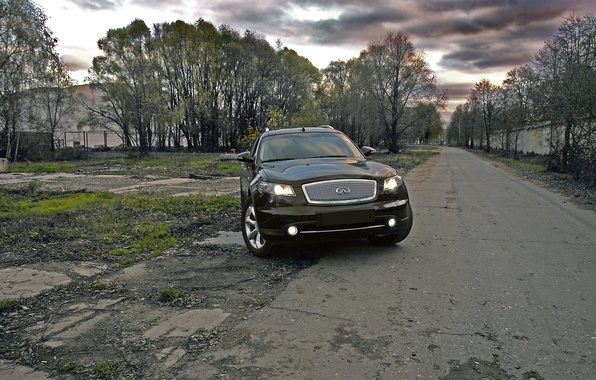 Picture HDR, Road, Trees, Infiniti fx35