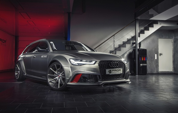 Photo wallpaper Before, Prior-Design, PD600R, Audi, RS 6, Audi, universal