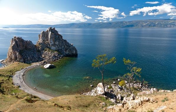 Picture photo, Nature, Lake, Rock, Baikal, Russia, Landscape, Coast, Baikal