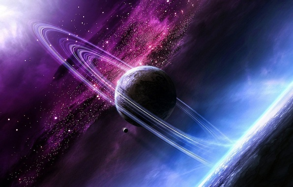 Picture nebula, planet, ring