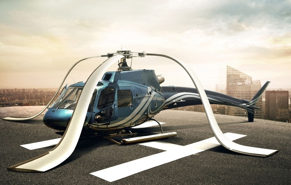 Picture the sky, mood, helicopter, the trick, blades, helicopter, descended, deprecia