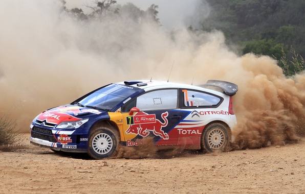 Picture Dust, Citroen, Citroen, WRC, Rally, Rally, Competition, The view from the side