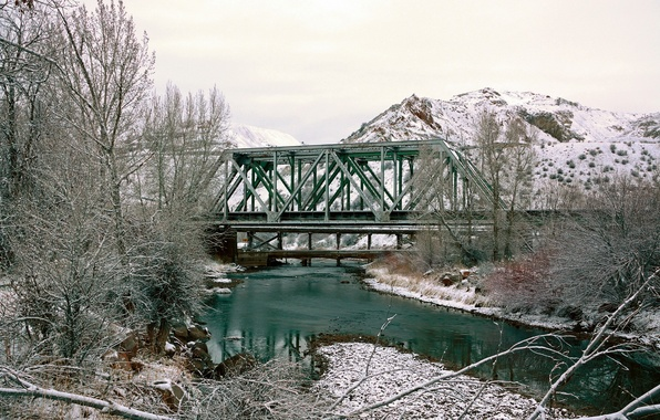 Picture bridge, Spring, Morgan, creek, Utah