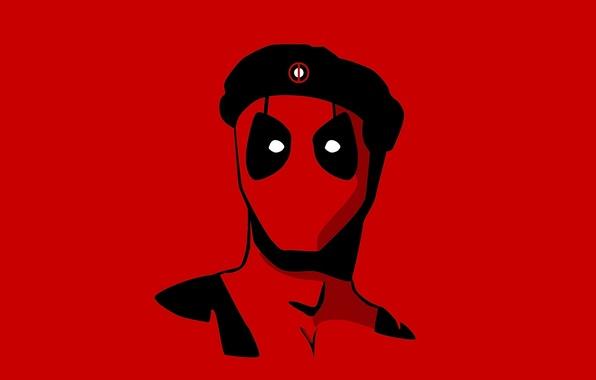 Picture red, mask, Deadpool, Deadpool, Marvel Comics