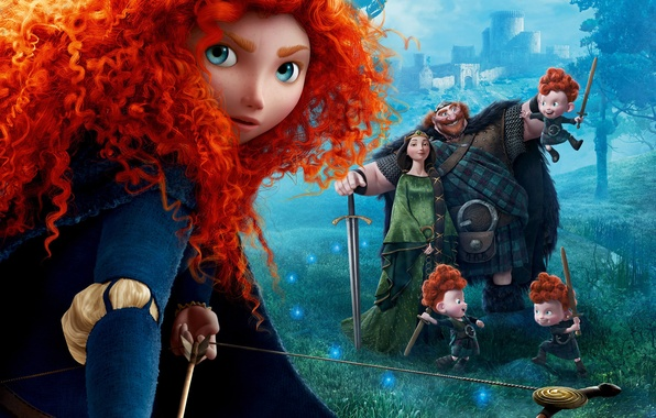 brave family Disney merida