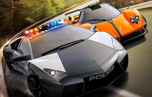 Picture Race, NFS, Hot Pursuit, Lamborghini, Need For Speed, COP