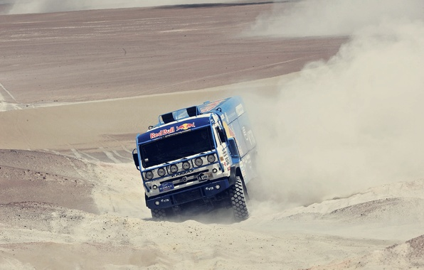Picture sand, car, machine, race, desert, dust, master, dunes, truck, Russia, rally, rally, KAMAZ, kamaz, Dakar, …