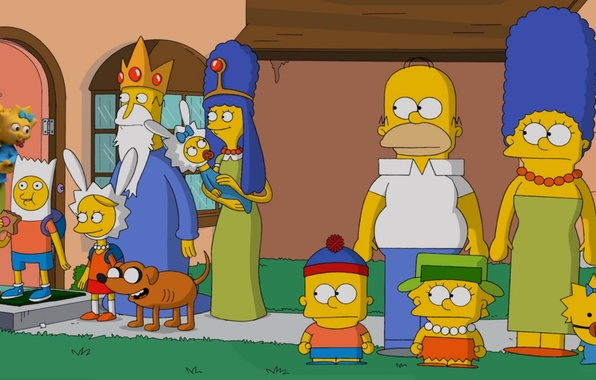 Picture Maggie, Liza, South Park, The Simpsons, Adventure Time, Parody, Marge, Bart, Gomer