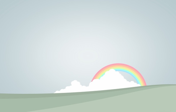 Picture clouds, rainbow, vector