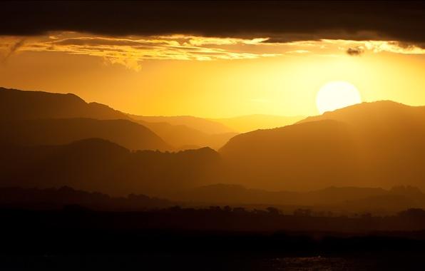 Picture landscape, sunset, mountains, Australia, Byron Bay