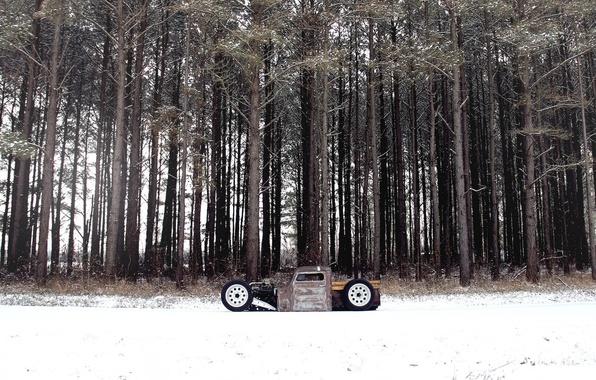 Picture forest, snow, volkswagen, forest, Volkswagen, snow, rat, rod, rod, RET