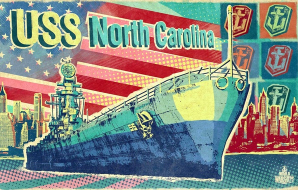 Picture ship, USA, battleship, world of warships
