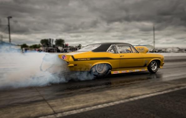 Picture race, smoke, Chevrolet, Camaro, muscle car, Muscle car, Yenko, drag racing