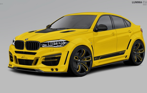 Picture yellow, BMW, BMW, 2010, F16, Lumma Design, X6 M