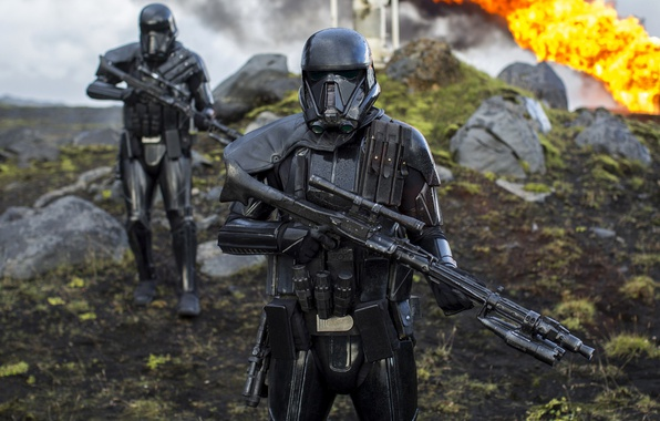Picture cinema, Star Wars, fire, flame, gun, rock, soldier, armor, weapon, war, man, movie, sniper, empire, …