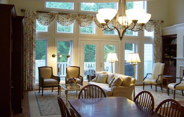Picture design, house, style, Villa, interior, cottage, estate, living room, living room