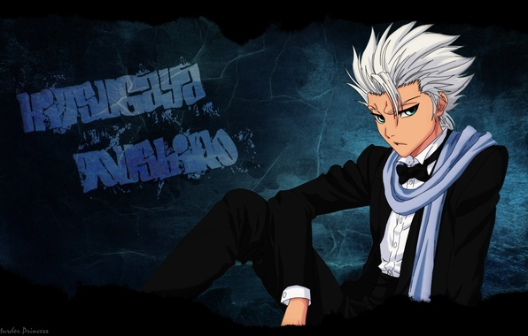 Picture look, mood, scarf, Guy, Bleach, Bleach, blonde, tuxedo, hitsugaya toushirou