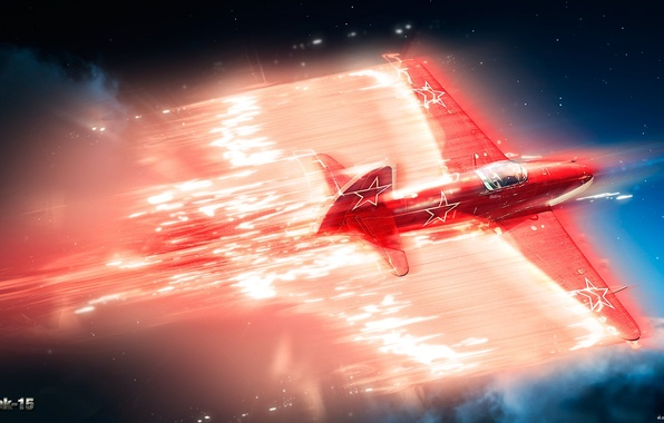 Picture the sky, clouds, the plane, war, fighter, jet, war thunder, As-15, hibikirus