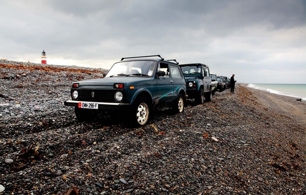 Picture background, Wallpaper, shore, Lada, off road, Niva, Niva, Land rover
