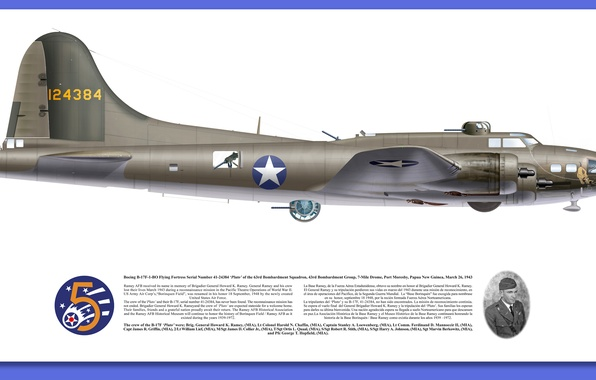 Picture American, WWII, Boeing YB-40 Flying Fortress