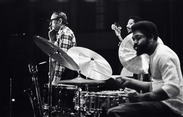 Picture music, jazz, drums, musicians, bass, Steve Davis, jazz musicians, Billy Hart, Pepper Adams