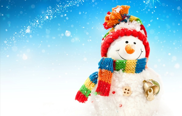 Picture New Year, Christmas, snowman, christmas, new year, winter, snow, snowman